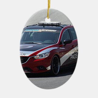 Sport-Auto-Auto-Laufen Ovales Keramik Ornament