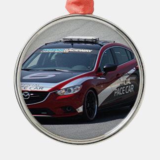 Sport-Auto-Auto-Laufen Rundes Silberfarbenes Ornament