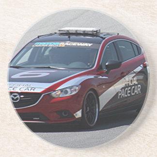Sport-Auto-Auto-Laufen Sandstein Untersetzer