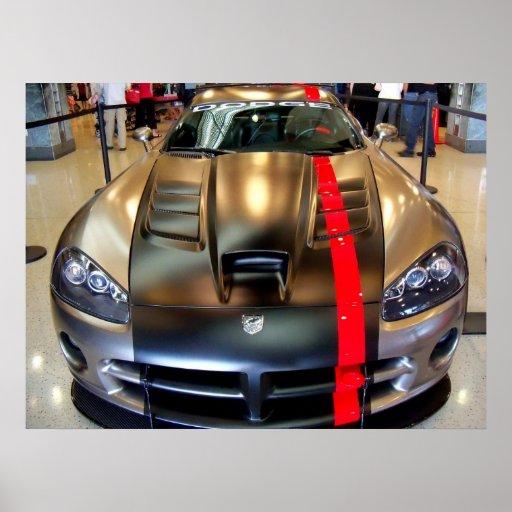 Sport-Auto-Druck der Dodge-Viper-2008 klassischer  Poster