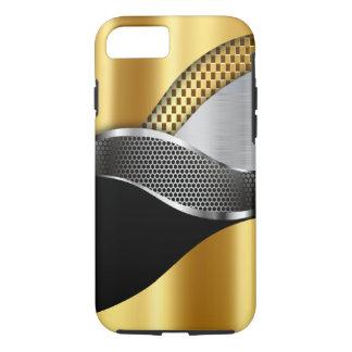 Sport-Auto-Goldsilber-Maschenschwarzes iPhone 8/7 Hülle