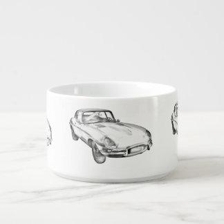 Sport-Auto-Illustration 1964 Jaguars XKE antike Kleine Suppentasse