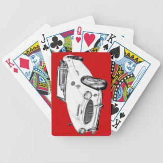 Sport-Auto-Illustration Austin Healeys 300 Bicycle Spielkarten