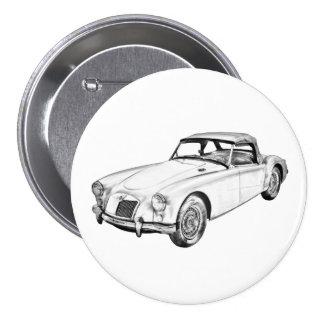Sport-Auto-Illustration MGs konvertierbare Button