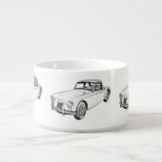 Sport-Auto-Illustration MGs konvertierbare Kleine Suppentasse
