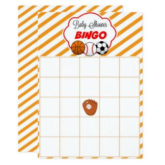 Sport-Babyparty-Raum-Geschenk-Baby-Bingo-Karten Karte