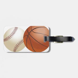 Sport-Ball-Athleten-Spiel-Team-Jahreszeit Kofferanhänger