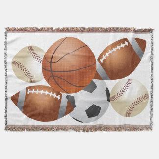 Sport-Bälle Gameday Jahreszeit-Team-Wurfs-Decke Decke