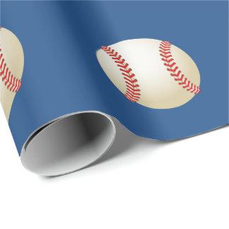 Sport-Baseball-Thema-Marine-Blau Geschenkpapier