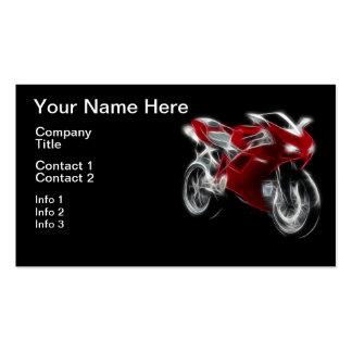 Sport-Fahrrad, das Motorrad läuft Visitenkarten
