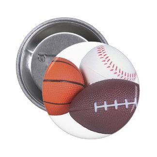 Sport-Fan-Geschenk-Basketball-Baseball-Fußball Runder Button 5,7 Cm