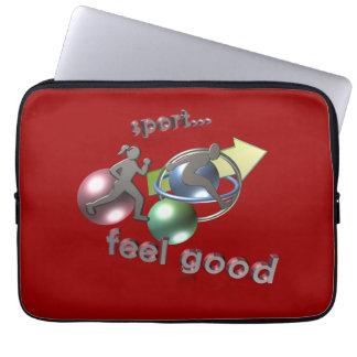 sport feels good, Laptop Schutzhülle Laptopschutzhülle