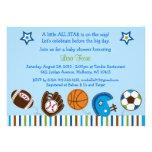 Sport-Fußball-Baseball-Babyparty-Einladungen