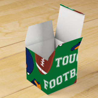 SPORT Fußball setzen Spaß-buntes Muster auf Geschenkschachtel