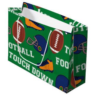 SPORT Fußball setzen Spaß-buntes Muster auf Große Geschenktüte
