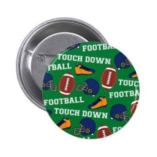 SPORT Fußball setzen Spaß-buntes Muster auf Runder Button 5,1 Cm