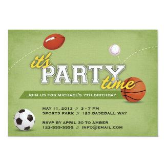 Sport-Geburtstags-Party Einladung