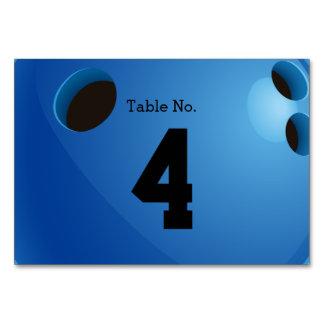 Sport-Geschenke der Bowlings-Tischnummer-  Karte