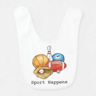 Sport geschieht Schellfisch Lätzchen