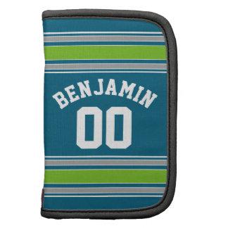 Sport Jersey aquamarine und grüne Planer