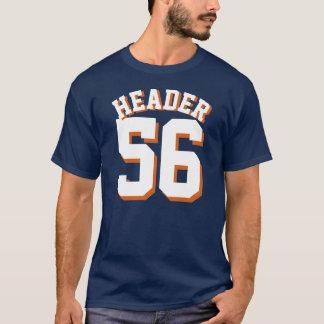 Sport-Jersey-Entwurf der Marine-Blau-u. T-Shirt