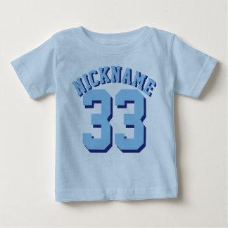 Sport-Jersey-Entwurf des blauen Baby-  Baby T-shirt