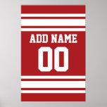 Sport Jersey mit Ihrem Namen und Zahl Posterdrucke