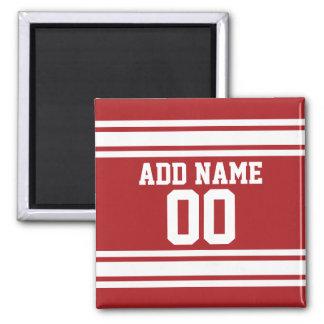 Sport Jersey mit Ihrem Namen und Zahl Quadratischer Magnet