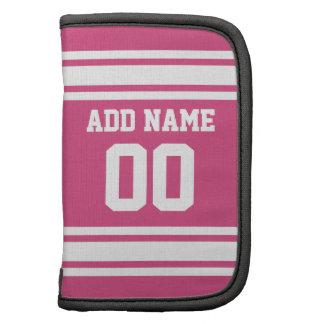 Sport Jersey mit Namen und Zahl - rosa Weiß Mappen