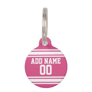 Sport Jersey mit Namen und Zahl - rosa Weiß Tiernamensmarke