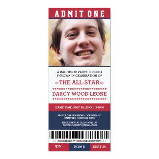 Sport-Karten-Junggeselle-Party lädt ein 10,2 X 23,5 Cm Einladungskarte