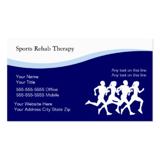Sport-körperliche Therapie-Visitenkarten Visitenkarten