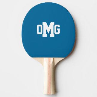 Sport-Monogramm Klingeln-Pong Paddel Tischtennis Schläger