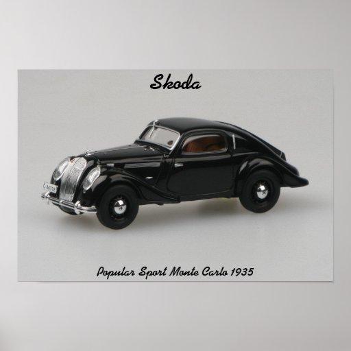 Sport-Monte Carlo 1935 Skodas populärer Druck Posterdruck