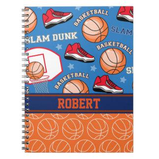 SPORT personalisiertes Namensbasketball-Fan-Muster Notizblock
