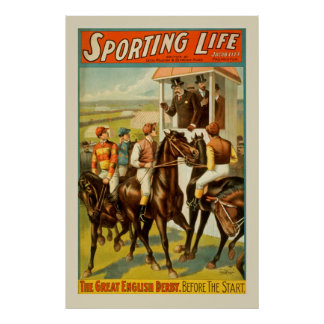 Sport-PferdelaufenVintages Plakat