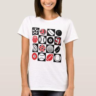 Sport-Schachbrett T-Shirt