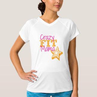 Sport-Shirt verrückter Frauen Sitz-Mutter T-Shirt