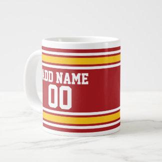 Sport-Team-Fußball-Jersey-Name-Zahl Extragroße Tassen