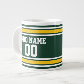 Sport-Team-Fußball-Jersey-Name-Zahl Jumbo-Tasse