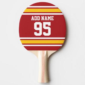 Sport-Team-Fußball-Jersey-Name-Zahl Tischtennis Schläger