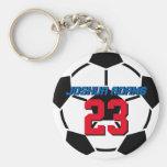 Sport-Team-Schwarz-weißer Fußball-Ball Keychain Standard Runder Schlüsselanhänger