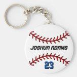 Sport-Team-weißer Baseball Keychain Standard Runder Schlüsselanhänger