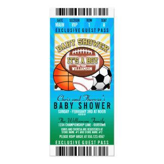 Sport-Thema-Party-Baby-Dusche 10,2 X 23,5 Cm Einladungskarte
