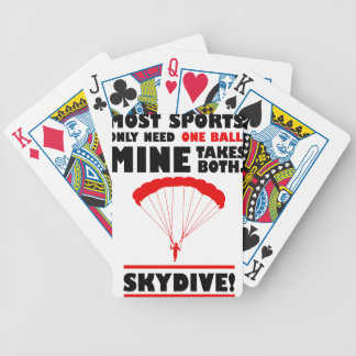 Sport und skydive, Bergwerk nimmt beide Bicycle Spielkarten