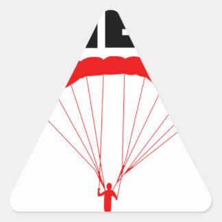 Sport und skydive, Bergwerk nimmt beide Dreieckiger Aufkleber