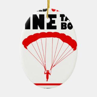 Sport und skydive, Bergwerk nimmt beide Ovales Keramik Ornament
