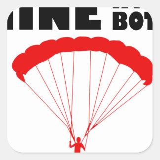 Sport und skydive, Bergwerk nimmt beide Quadratischer Aufkleber