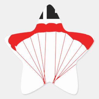 Sport und skydive, Bergwerk nimmt beide Stern-Aufkleber