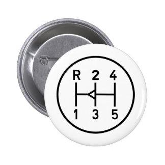 Sportauto-Ganggriff, Getriebeschiebemuster Runder Button 5,1 Cm